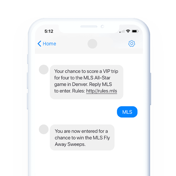 Business Text Message Contest