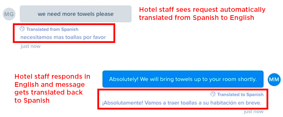 Zingle hotel guest text messaging translation feature